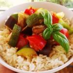 Mediterrane Gemüsepfanne mit Reis