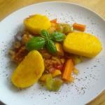 Polentalaibchen mit Ital. Gemüsepfanne